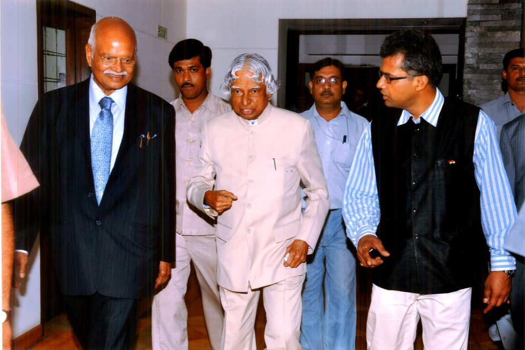 Manoj Mohanka with A P J Abdul Kalam @ Calcutta Chamber of Commerce 2