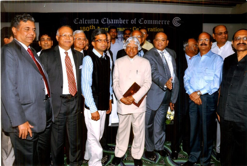 Manoj Mohanka with A P J Abdul Kalam @ Calcutta Chamber of Commerce-1