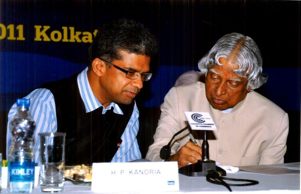 Manoj Mohanka with A P J Abdul Kalam