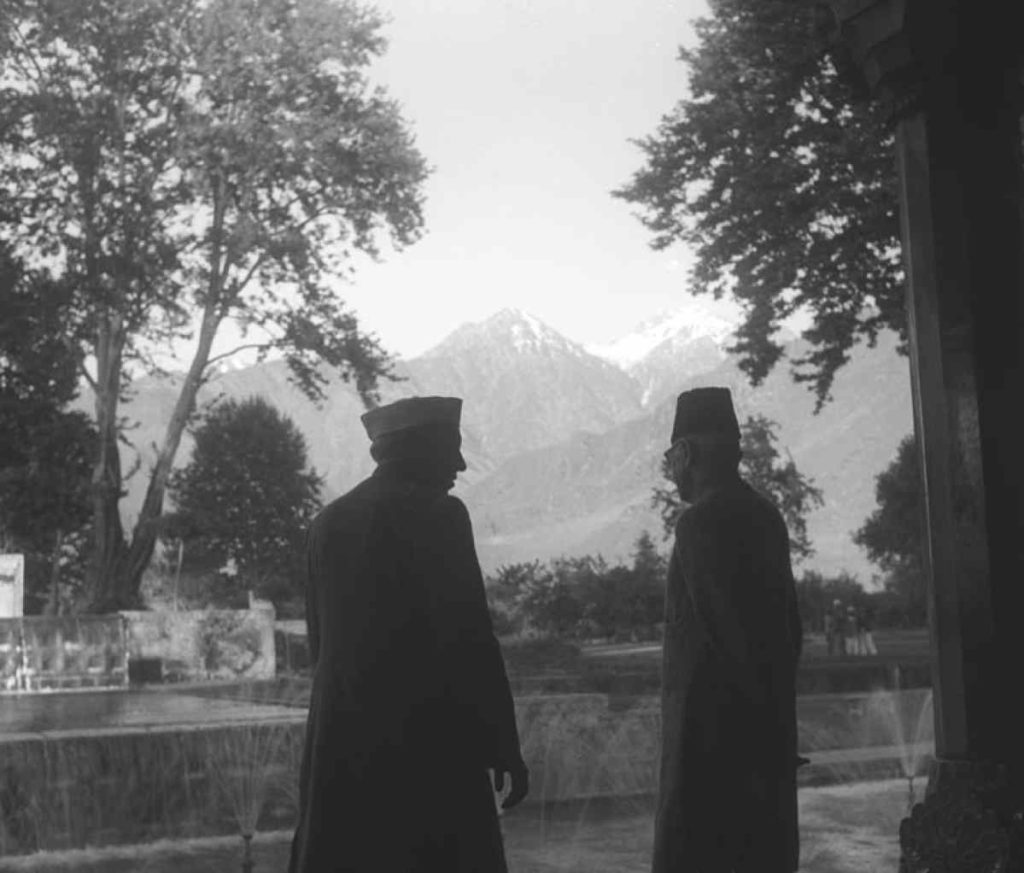 Nehru and Maulana Azad in Kashmir