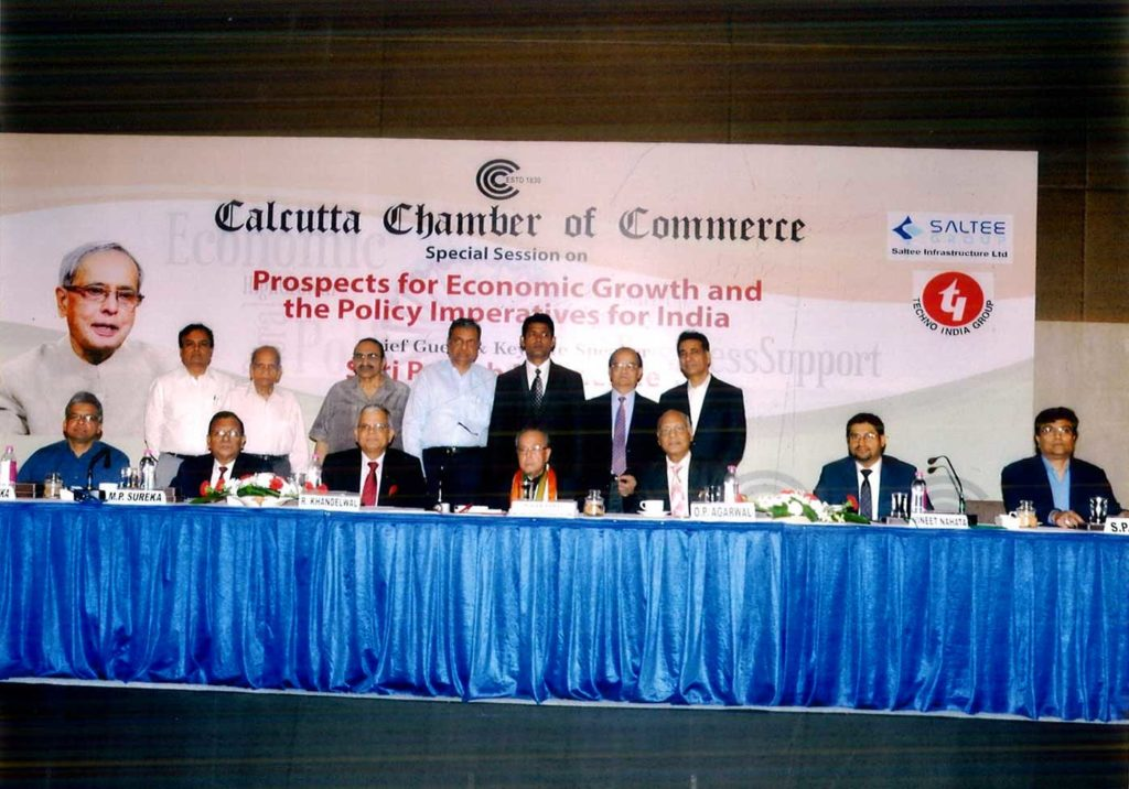 Culcutta Chamber of Commerce – Committee Members With Pranab Mukherjee